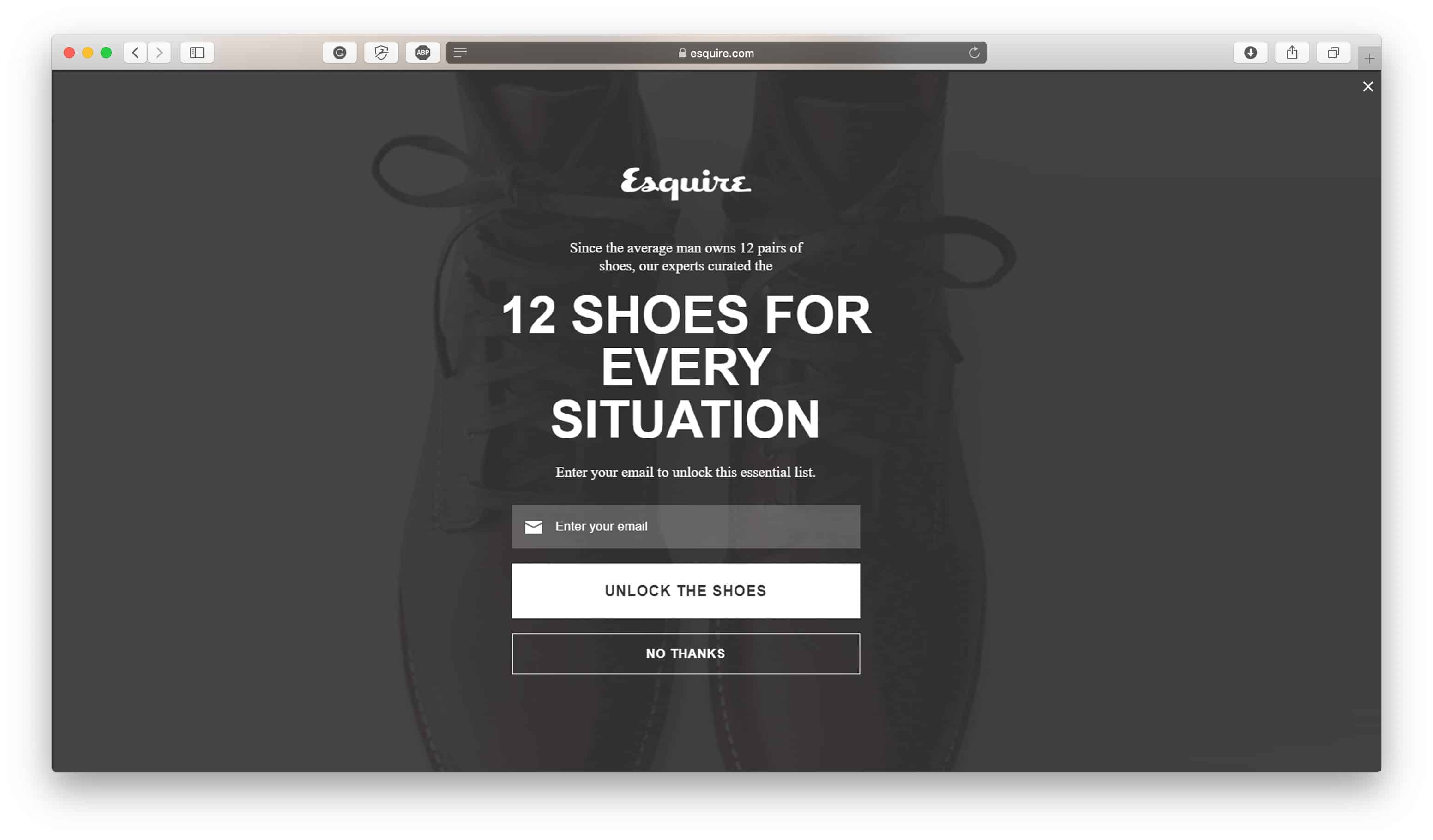 Exit Intent Popup Audience Targeting