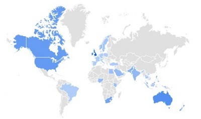 exercise mats trending per region