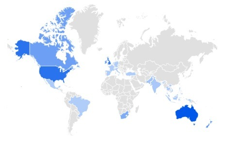 rugs trending per region