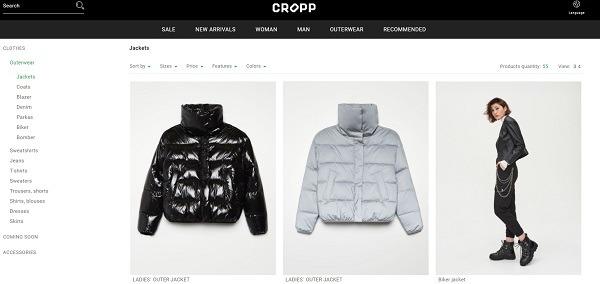Crop online store example