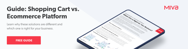 Shopping Cart vs. Ecommerce Platform | Free Guide