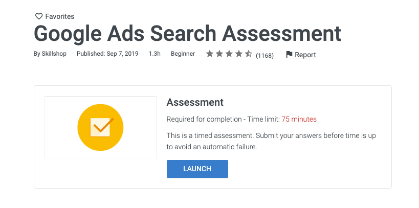 start the google ads exam