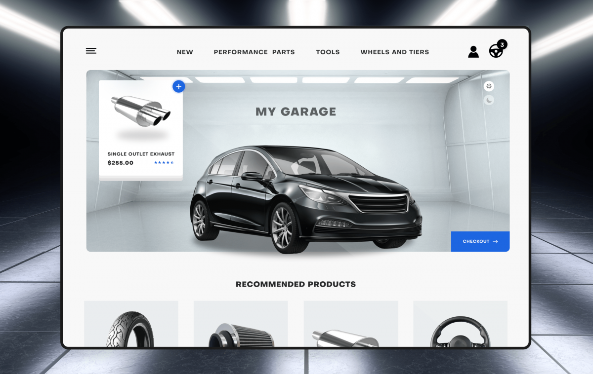 An example of B2B commerce seen on an automotive website.