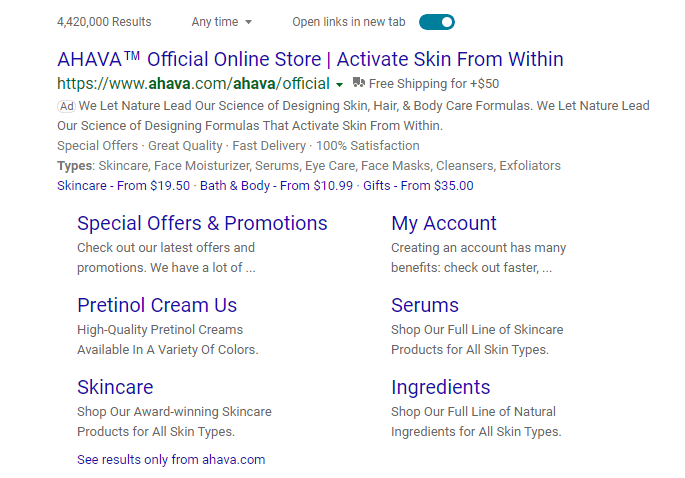 Microsoft ad example