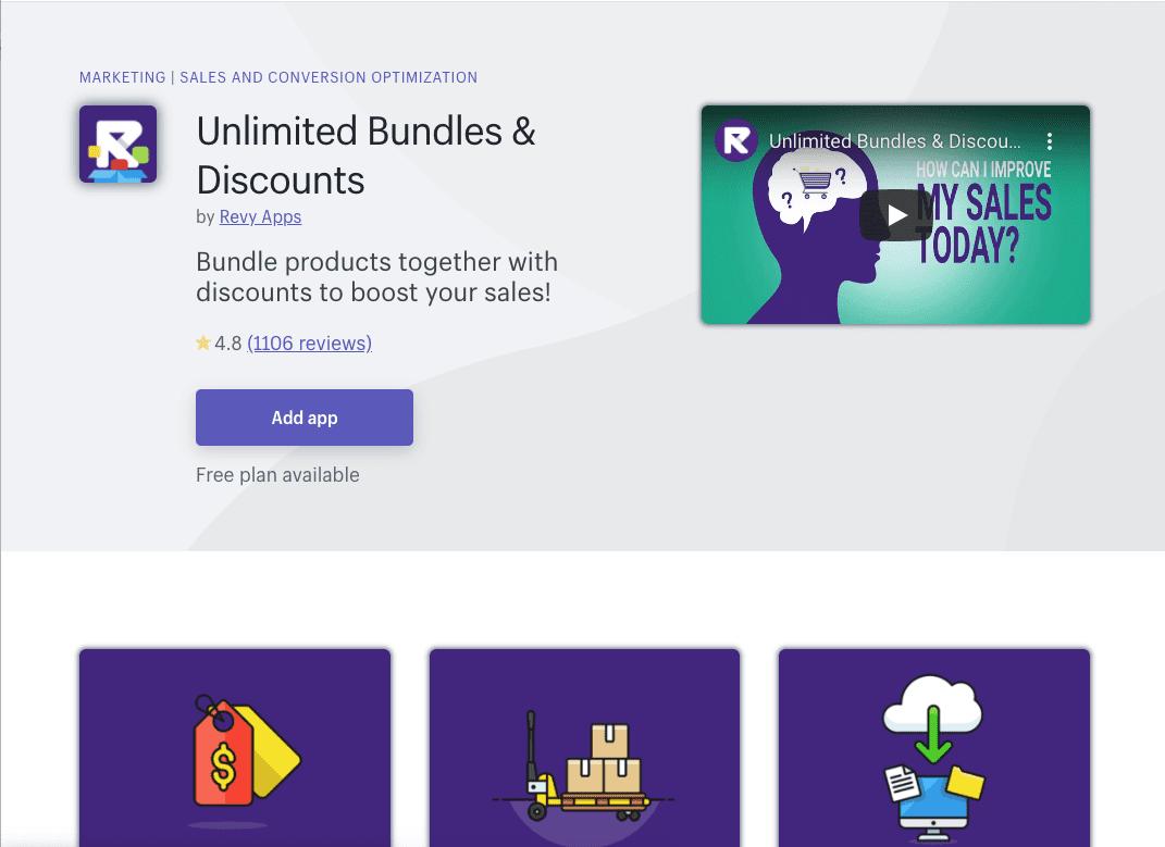 Unlimited Bundles & Discounts Shopify App