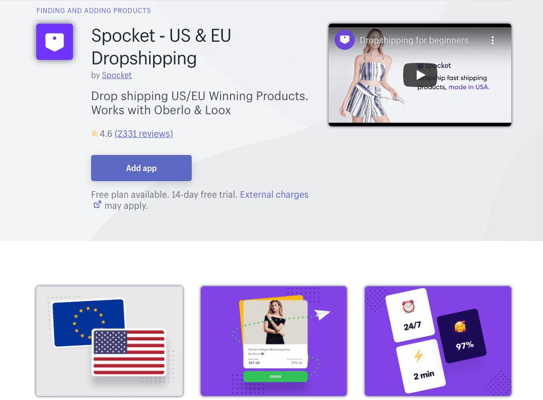 Spocket Shopify App