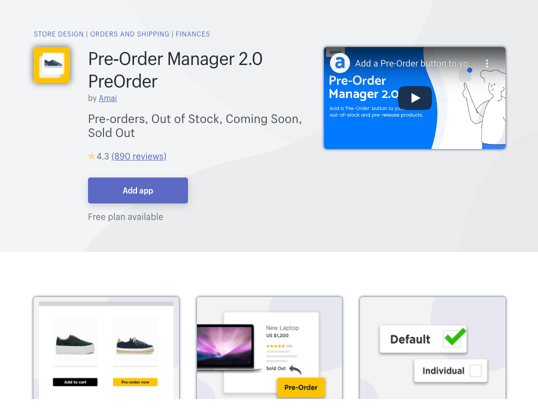 Preorder Manager Shopify App