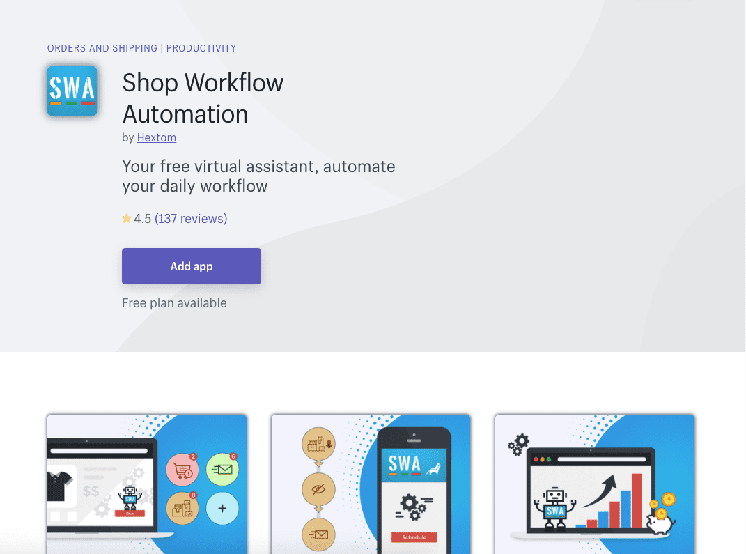 Shop Workflow Automation