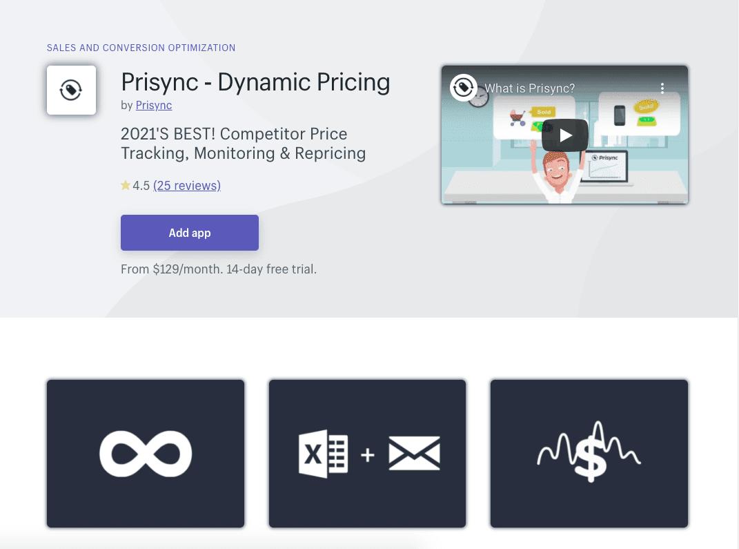 Prisync Shopify App