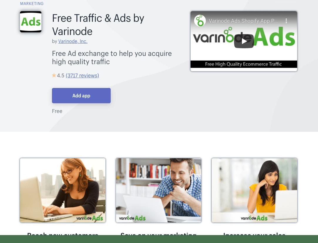 Free Traffic & Ads by Varinode Shopify app