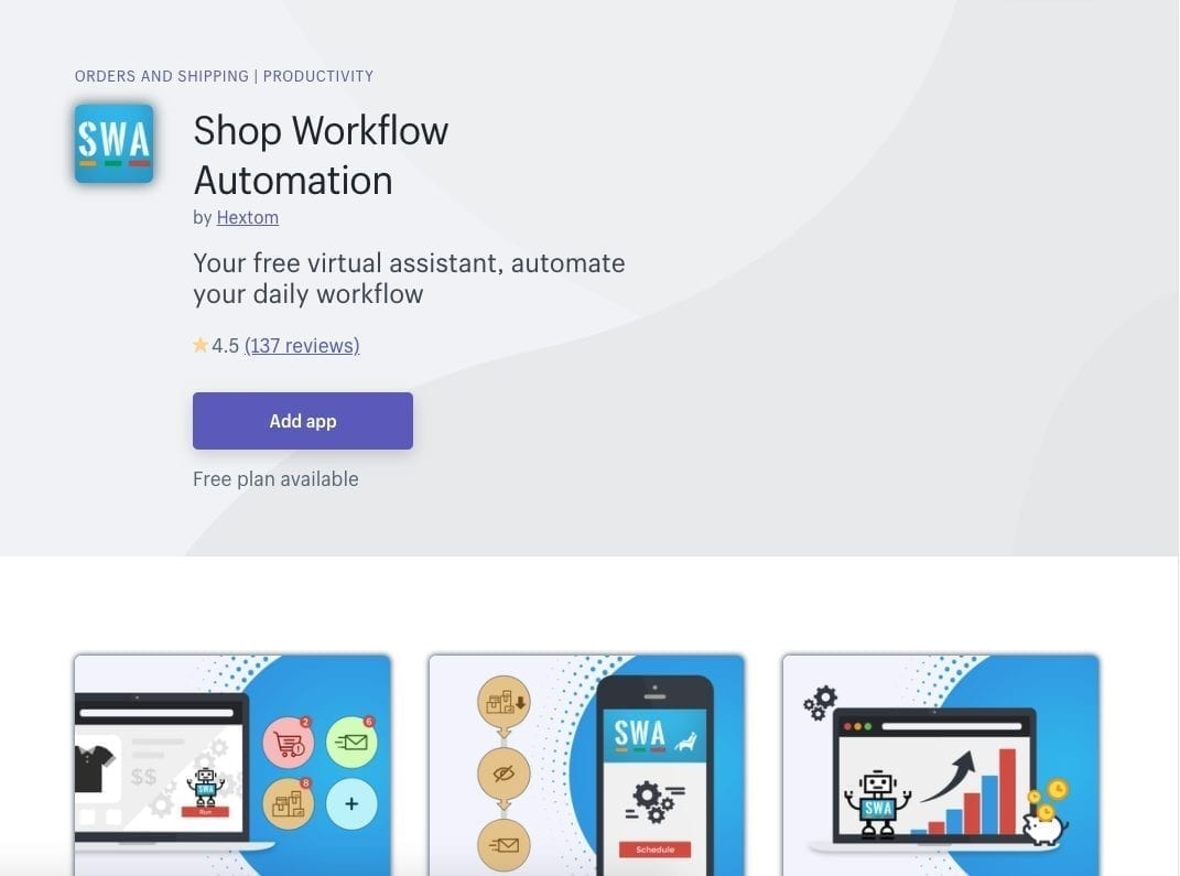 Shop Workflow Automation