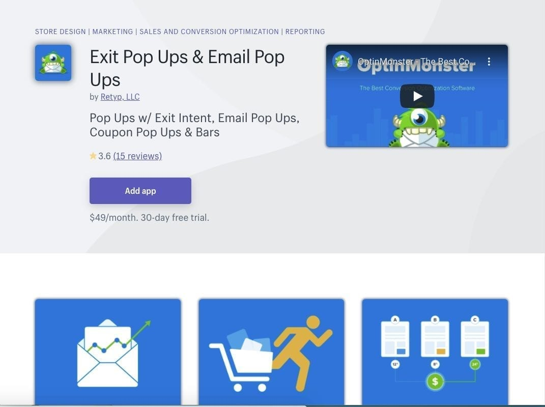 OptinMonster Shopify app