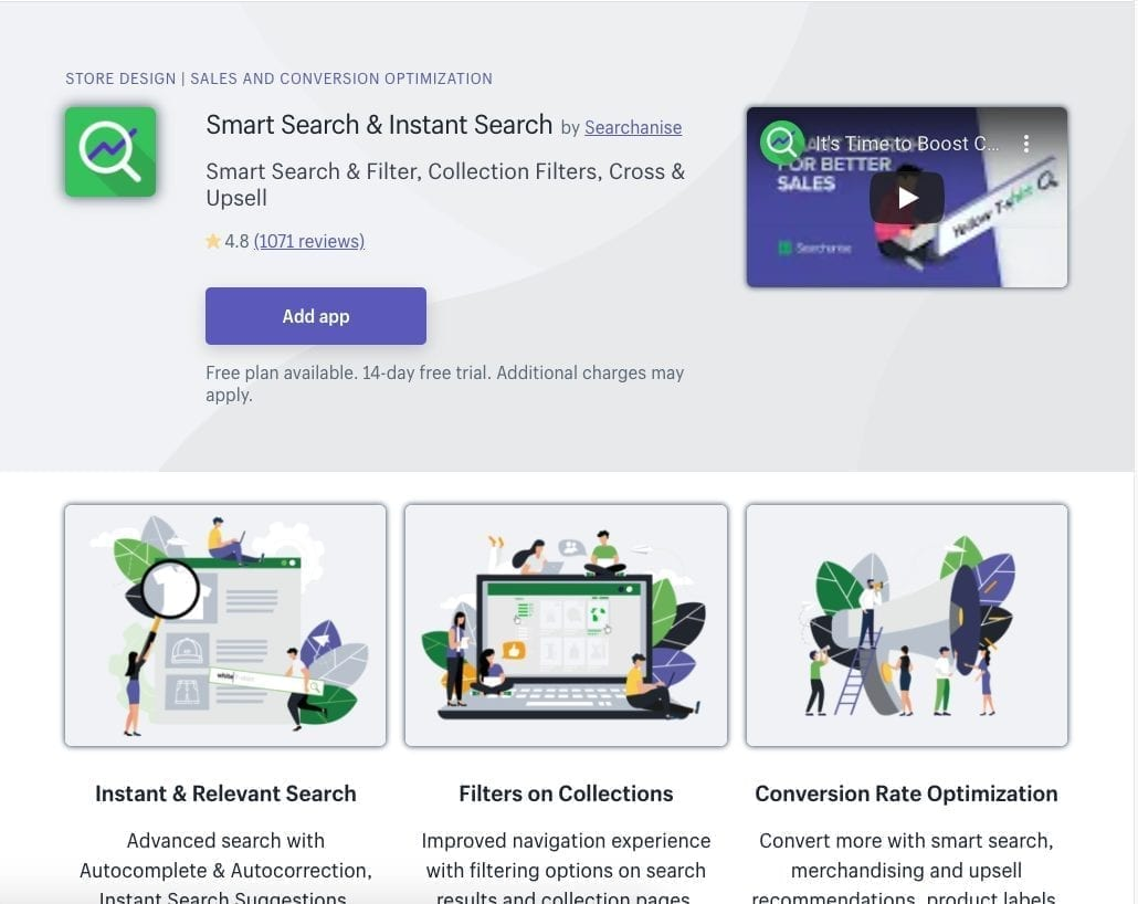 Smart Search & Instant Search Shopify app
