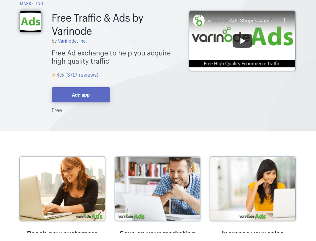 Free Traffic & Ads by Varinode Shopify app