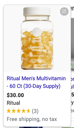 ritual male shopping ad