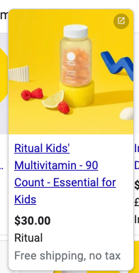 ritual kids shopping ad