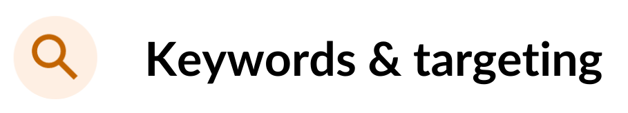optimization score keywords and targeting recommendations