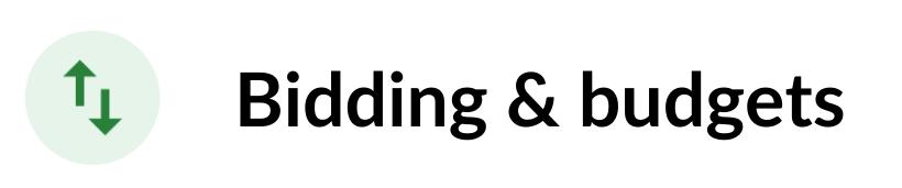 optimization score bidding budgets recommendations