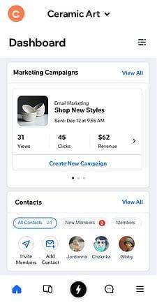 Wix Owner App Screenshot
