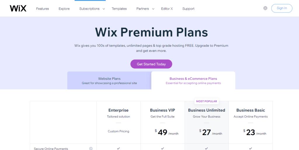 Wix Pricing Information Upgrade To A Premium Plan Wix.com