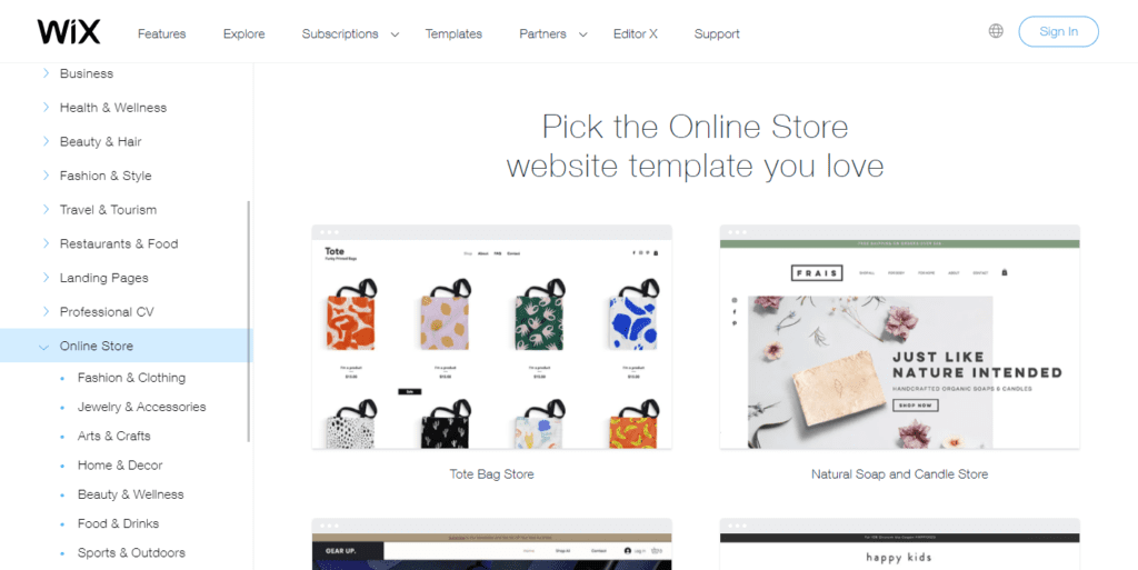 Online Store Website Templates Wix.com