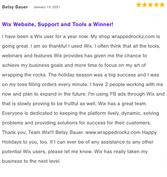 Wix reviews